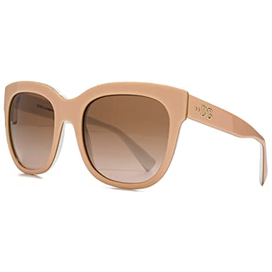 Dolce & Gabbana Flared Square Sunglasses in Powder on Gold White DG4272  300713 53 53 Brown