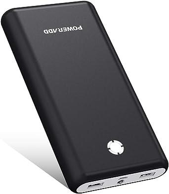 Poweradd Pilot X7 20000 Mah External Battery Power Bank Power Pack Mobile Phone Charger Black