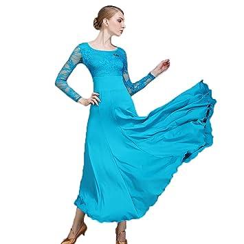 Liu Sensen Mujeres Práctica Danza Falda Baile Latino Trajes ...