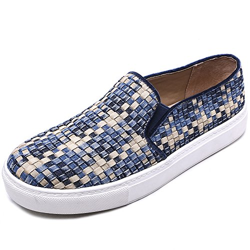 TONGPU Women's Slip on Footwear Comfor Stylish Leisure Denim Loafer Shoes Denim lwnbSovrG