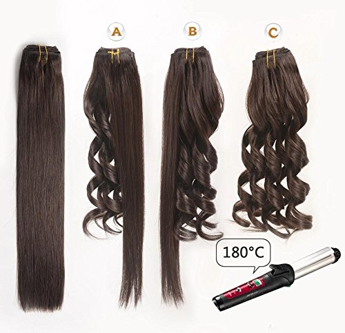14'' Remy Human Hair Clip in Extensions for Women Dark Brown(#2) 6Pieces 70grams/2.45oz by BHF HAIR (Image #3)