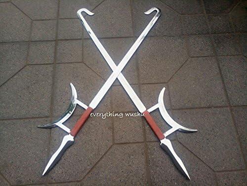 everythingwushu Wushu Kung Fu Tiger Head Double Hooks Tiger Hook Swords Shaolin Weapon