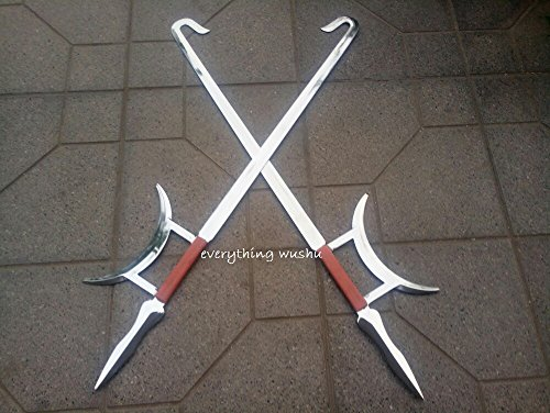 Wushu Kung Fu Tiger Head Double Hooks Tiger Hook Swords Shaolin Weapon