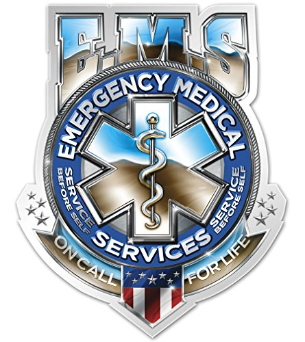 Collectible EMS/EMT Decals (2in), Share your Appreciation and Support with our vinyl EMS Badge Of Honor Tribute Stickers for your Home, Car, Cases and more, Souvenir Gifts for EMS/EMT