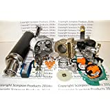 100cc Big Bore Kit 69mm Valves Power Pack Black Exhaust Chinese Scooter Parts