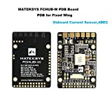 Makerfire Matek PDB for Fixed Wings 4X BEC Power Distribution Board (9-30V DC Input 3.3V 500mA Cont 104A Current Sensor)