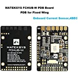 Matek PDB for Fixed Wings, 4x BEC Power Distribution Board (9-30V DC Input, 3.3V 500mA Cont, 104A Current Sensor)