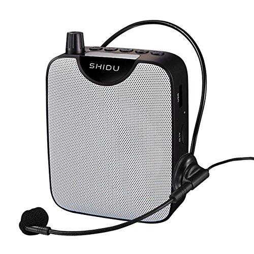 Portatil Amplificador de voz (10W) with 2000mAh pila al lithiumand ultraligero con clip de cinturón ,Wired Micrófono para las guías, los profesores, conférenciers, directivos, entrenador electronica,