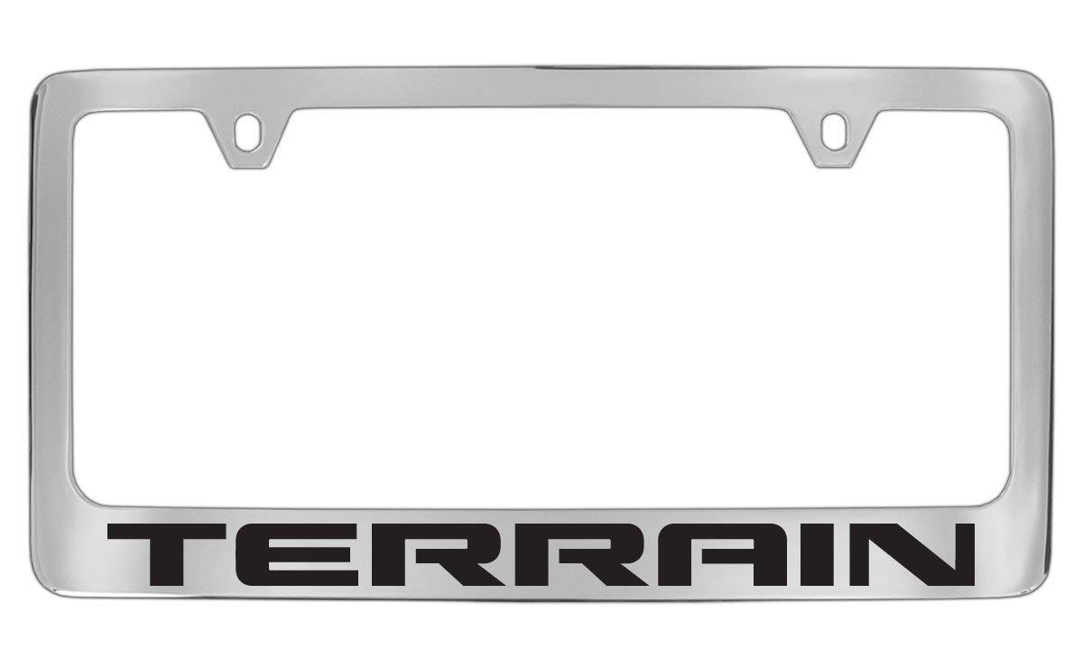 GMC Terrain Chrome Metal license Plate Frame Holder