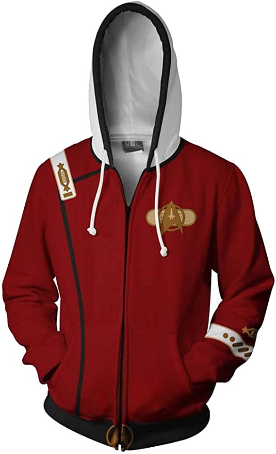Joe Wenko Men Zipper Jacket Long Sleeve Sports Hooded Casual Sweatshirts