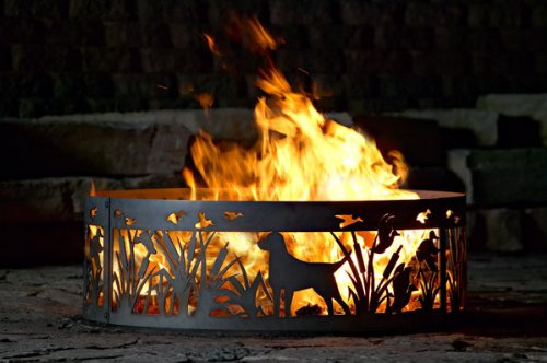 Solid Steel Outdoor Fire Ring – Lab N' Ducks (30 in. Dia.) Review