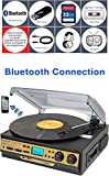 Best Speed Turntable With LCD Displaies - Boytone BT-27G-C Bluetooth connection 3-Speed Stereo Turntable, 2 Review