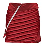 Spyder Women's Vintage Synthetic Down Insulated Mini Skirt, Red/Frontier, X-Small