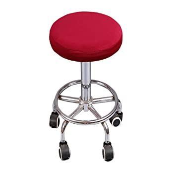 Marvelous Deisy Dee Soft Stretchable Round Bar Stool Chair Covers Protectors Pack Of 2 C097 Wine Red Uwap Interior Chair Design Uwaporg