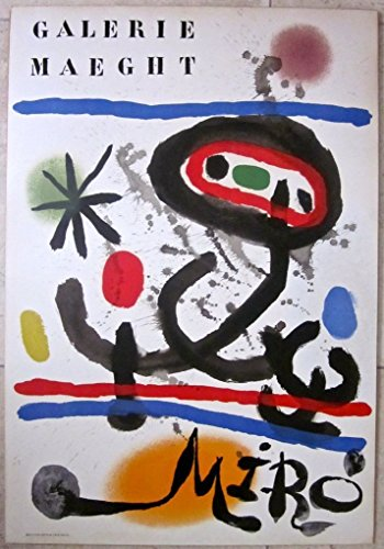 REDUCED 100 JOAN MIRO 1961 ART PRINT - GALERIE MAEGHT RARE ABSTRACT ART - John Abstract Print