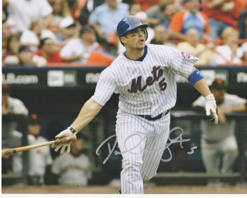 David Wright Autographed - Hand Signed New York Mets 8x10 Photo by Real Deal Memorabilia