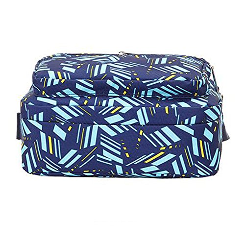 13 con Agua 15 Azul x Resistente 17 Pattern Bolso x para Alphabet cm Milnut Ligero 24 al 14cm Nailon Flores Mujer Bandolera Cremallera 24 con wZxqF0PU