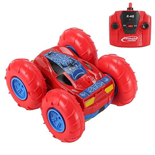 Aufitker Double Sided Stunt Car  Rechargeable 4Wd Remote Control Car Rc Car Mini Off Road Vehicle  360 Acrobatic Flip Spinning  Car Drifts Toy