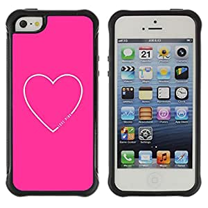 iArmor / Heart Text Love Sweet Minimalist White / Apple iPhone 5 / 5S
