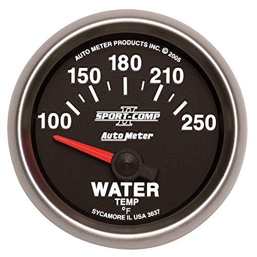 Auto Meter Sport-Comp Ii 52Mm 100-250 F Short Sweep Electronic Water Temperature Gauge(3637)