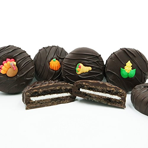 Philadelphia Candies Dark Chocolate Covered OREO Cookies, Thanksgiving Assortment (Corn, Cornucopia, Pumpkin, Turkey) 8 (Pumpkin Candy Corn Gift)