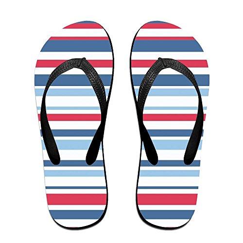 Bande Unisexe Bande Dété Flip Flops Sandales De Plage Plates-formes Sandales Pour Hommes Femmes Noir