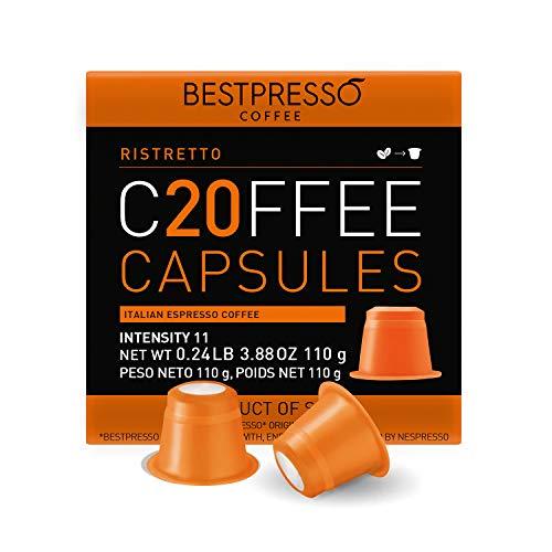 Bestpresso Coffee for Nespresso Original Machine 120 pods Certified Genuine Espresso Variety Pack Pods Compatible with Nespresso Original (Intense Variety Pack)