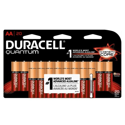 Price comparison product image Duracell Quantum Alkaline AA Batteries, 20-Count