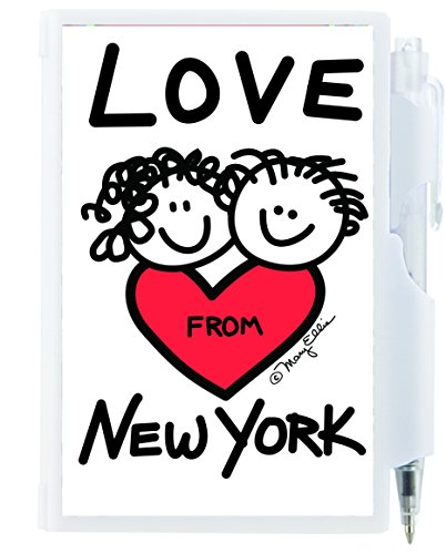 New York Memo Notebook Notepad Pen Set Hard Plastic Mini Pen and Pad Note Set 100 Sheets of Paper with Retractable Pen 3 x 4 Inches (Love From New - Avenue On Shopping 5th