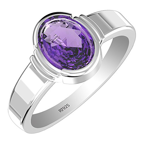 1.95ctw,Genuine Gemstone 7x9mm Oval & Solid .925 Sterling Silver Rings