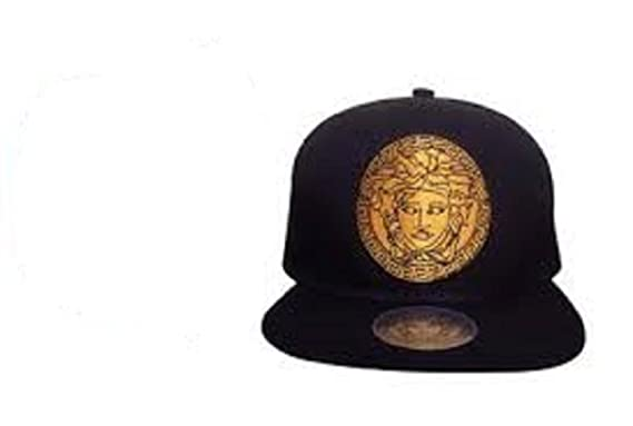 VERSACE MEN BALL CAPS SNAPBACK HATS ADJUSTABLE (BLACK)  Amazon.co.uk   Clothing b3091fa40c3