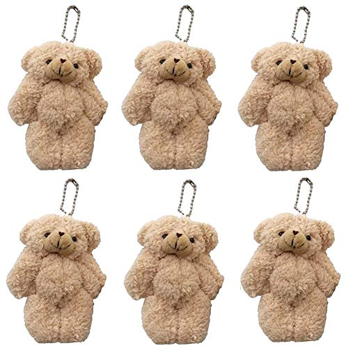 "CheeseandU 12Pack Stuffed Animals Plush Bears, 4.3"" Plush Teddy Bear Stuffed Animal Bulk Assorted Toys for Birthday Cake Wedding Decorations Craft DIY Accessory Party Favors Supplies, Brown"