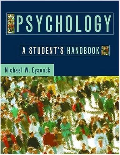 Book Psychology: A Student's Handbook