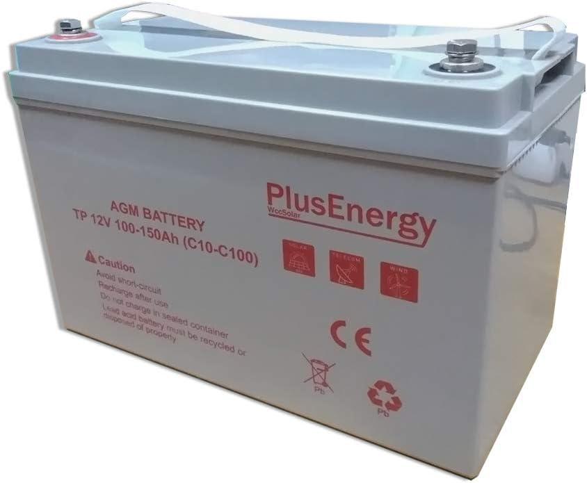 Bateria AGM PlusEnergy 12V 100-150AH C10 C100 Ciclo Profundo