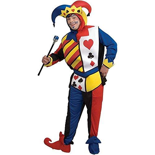 [Playing Card Joker Adult Costume] (Card Joker Costumes)