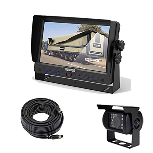 ARES Vehicle Monitor Back up & Security Camera System for Trucks, Buses, Vans (7
