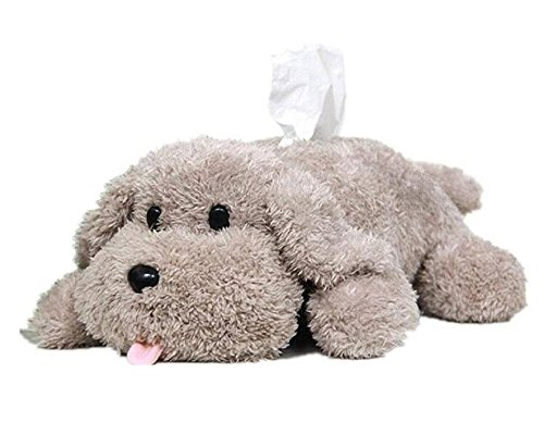 Plush Dog Toy style Anime Yuri on Ice Tissue Holder Tissue Box Cartoon Tissue Cover Paper Holder Napkin Box Paper Storage Box Tissue Tray Paper Container for Car Home Use Bathroom Accessories (Gray)
