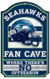 "NFL Seattle Seahawks 06057012 Wood Sign, 11"" x 17"", Black"