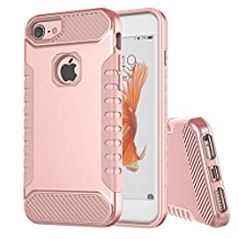 """iphone 6S rose gold case, iphone 7 Case,iPhone 6 Case,Moment Dextrad [Non-slip Grip][Dual Layer] Shockproof Anti-Scratch Heavy Duty Protection Cover for iPhone 7 6S 6 (4.7"""") + Stylus (Rose Gold)"""