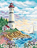 Dimensions Needlecrafts Paintworks Paint By Number, Lighthouse At Sunrise