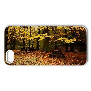 Romantic Fall Watercolor style Cover iPhone 5 and 5S Case (Autumn Watercolor style Cover iPhone 5 and 5S Case)