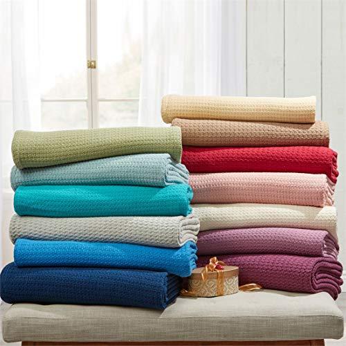 BrylaneHome Studio Primrose Cotton Blanket (Spa,Twin) by BrylaneHome (Image #2)