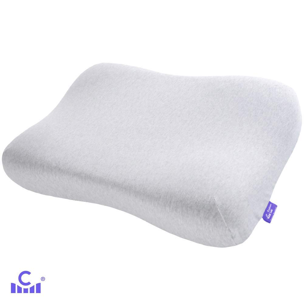 Cushion Lab Extra Dense Gel-Infused Memory Foam Contour Pillow for Neck Pain Relief - Ergonomic Cervical Pillow for Back & Side Sleepers, Pressure Relieving Neck Support, CertiPUR US