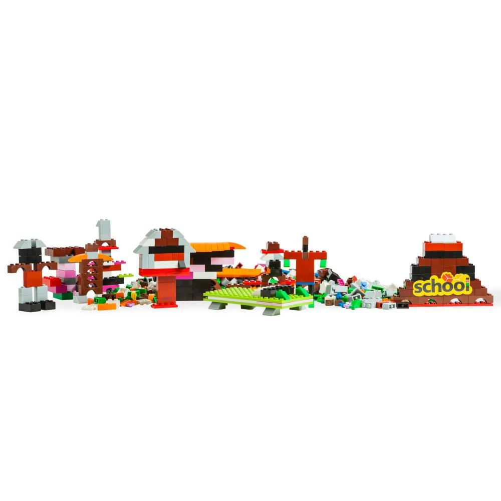 Dimple DC13992 1000-Piece Set Multi-Colored Stacking Bricks Small Building Blocks