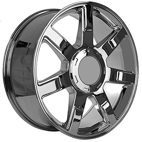 Amazon Com 22 Inch Cadillac Escalade Chrome Replica Wheels Rims