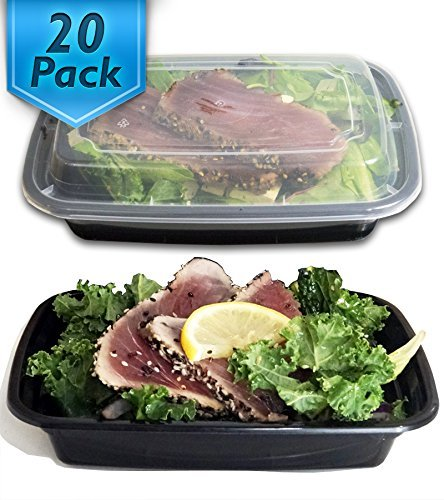 24 Oz. Meal Prep Containers BPA Free Plastic Reusable Food