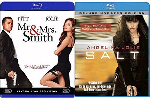Salt & Mr. & Mrs. Smith [Blu-ray] 2 Pack Action Movie Set Angelina Jolie