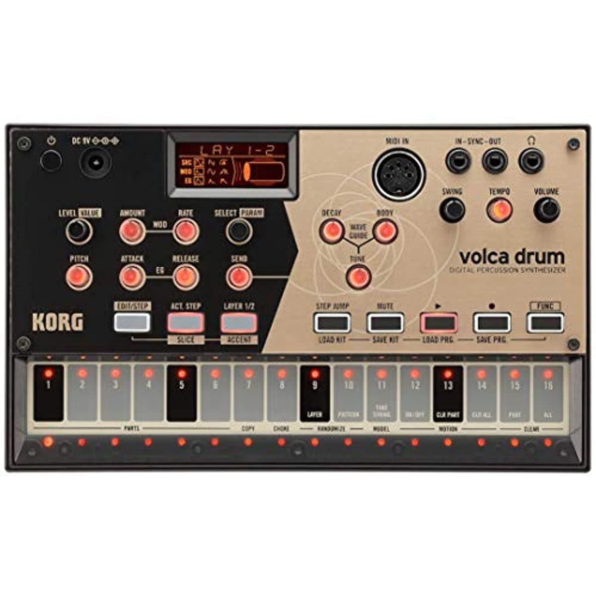 [해외] KORG (코르그) 디지털 퍼커션 신디사이저 컴팩트 volca drum
