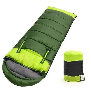 Adultos Sacos de Dormir 3 Temporada Hueco de algodón Empalme Deportes al Aire Libre Gruesa Senderismo Camping Escalada Caliente Saco de Dormir: Amazon.es: ...