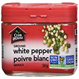 Club House, Quality Natural Herbs & Spices, Ground White Pepper, Plastic Can, 34g